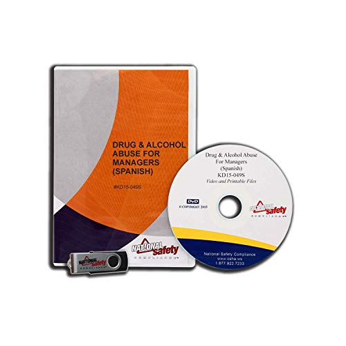 (2015 Spanish) Drug & Alcohol Abuse for Managers Video Training Kit | Easily Train An Unlimited Number Of Managers - Additional Reference Resources Included | National Safety Compliance