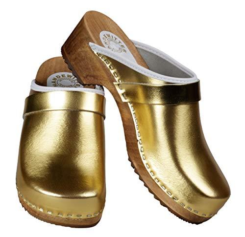 Handewitter Clogs Offen Gold Metallic (40 EU)