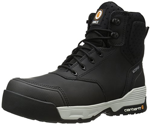 Carhartt Men's 6' Force BLK CMP Toe-M, Black Coated Leather, 10 M US