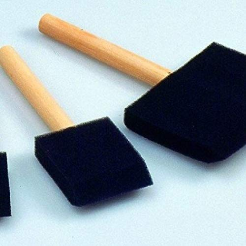 Efco en Mousse Non traité Pinceau, Noir, 70 x 70 Mm-p, Acrylique, Noir, 41 x 41 x 3.8 cm