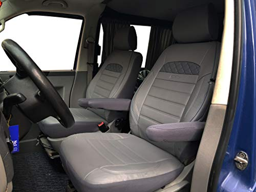 K-maniac Fundas de Asiento T5 T6 Multivan California Kombi Caravelle Transporter Kasten...