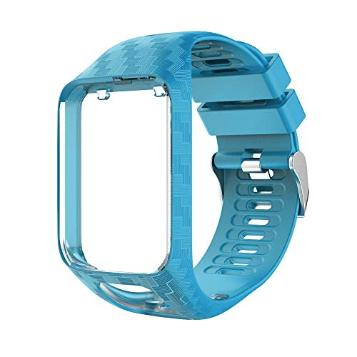 Yivibe Watch Strap Watchband for Tomtom 2 3 Series Silicone Wrist Band Strap for Tomtom Runner 2 3 Spark GPS Watch Tracker Replacement ( Color : Blue )
