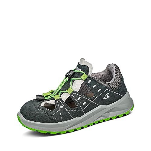 Lowa Unisex-Kinder Sandale 640120 ARIOSO JUNIOR Textil Gummisohle Mehrfarbig, Groesse 31, Graphit/Limone