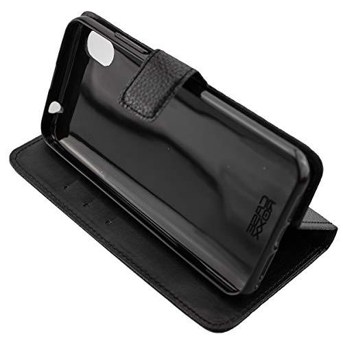 caseroxx Handy Hülle Tasche kompatibel mit Gigaset GS110 Bookstyle-Hülle Wallet Hülle in schwarz