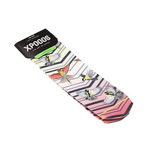 Xpooos Socken, niedrig, 1 Paar, ohne Ferse, gestreift, HAZEL Gr. One size, Rosa