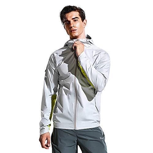HOTSUIT Sauna Suit Jacket Men Weight Loss Gym Exercise Durable Sweat Workout Jacket, Gray, XXXL