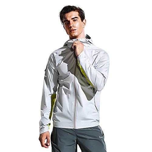 HOTSUIT Sauna Suit Jacket Men Weight Loss Gym Exercise Durable Sweat Workout Jacket Gray L