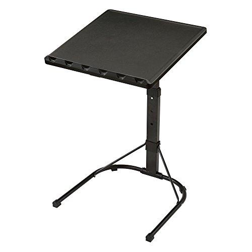 ぼん家具 サイドテーブル 折りたたみ ソファ 書見台 3段階 高さ調節 デスク 机 ブラック