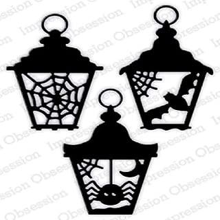 Impression Obsession DIE735W Halloween Lanterns Steel Craft Die