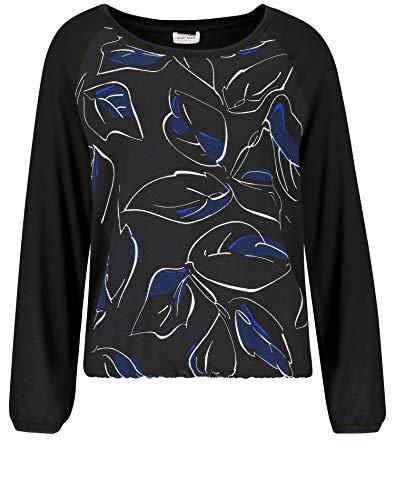 Gerry Weber Damen 270287-35087 Langarmshirt, Mehrfarbig (Schwarz/Blau/Weiß Druck 1109), (Herstellergröße: 42)