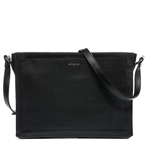 FEYNSINN Selva Women's Shoulder Bag Genuine Leather Handbag Shoulder Bag Black