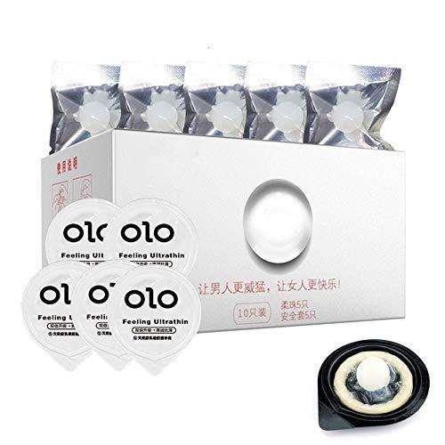 Xiaolizi 20pcs Nueva Pearl SPA condón del Sexo Femenino Masaje con Cuentas condones G-estimulador del Punto Punteado Condones Sabor Pareja Sexo Adulto Herramientas para Hombres