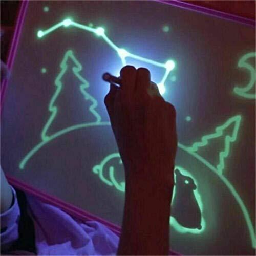 cmboom Tableta Luminosa Infantil de Pizarra mágica con la luz para niños y bebés, Escritura educativa, Pintura de Juguete A3