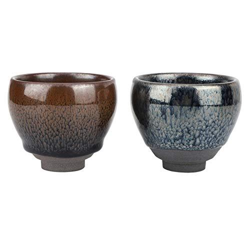 Vasos de té de cerámica Taza de té japonesa Vasos de cerámica Taza de té de porcelana de estilo japonés para el hogar