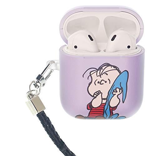 Peanuts Linus Van Pelt ピーナッツ ライナス ヴァン ペルト AirPods と互換性があります ケース ネックストラッ エアーポッズ用ケース 硬い スリム ハード カバー (面 ライナス) [並行輸入品]