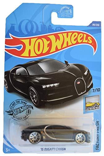 Hot Wheels Factory Fresh 7/10 '16 Bugatti Chiron 89/250, Black