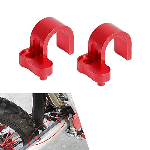 An Xin Motorcycle Red CNC Chain Guide Guard Protection For HONDA CRF150F CRF230F CRF 150F 230F 2003-2009 2012-2017 Motorbike Motocross