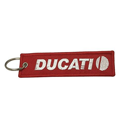 1 llavero de etiqueta roja para Ducati Motocicletas Biker llavero accesorios regalos