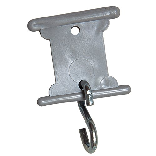 Camco Gray RV Party Light Holder - Easily Slides Into Awning Roller Bar Channel, Each Hanger Supports Up to 15 lbs - 7 Pack (42693)