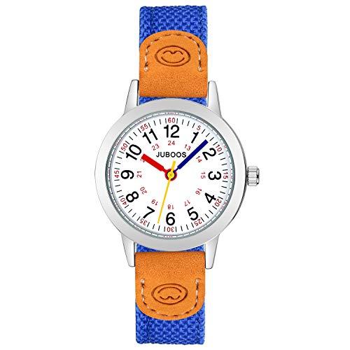 Kinder Analog Uhren Armbanduhr für Jungen Mädchen, wasserdichte Quarzuhr Uhren für Kinderuhr Mädchen (DUNKELBLAU)