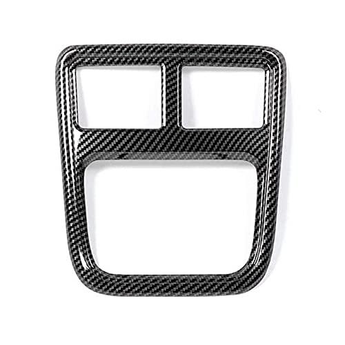 shiyi Ajuste para 2011-2021 Dodge Charger Car Trasero Aire Acondicionado Outlet Outlet Funda De Ventilación Accesorios De Decoración De Marco, Fibra De Carbono ABS