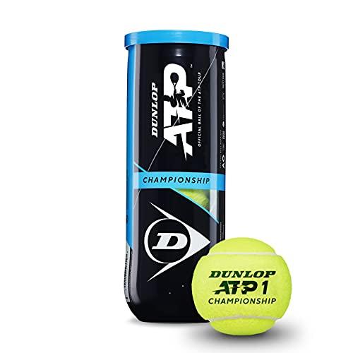 Dunlop Unisex 601332 Tennisbal ATP Championship-3 Ball Pet, Geel, One Size