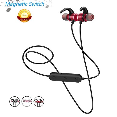 Buy Discount Sport Wireless Bluetooth Headphone with Magnetic Switch Stereo, Sweatproof, Noise Can...
