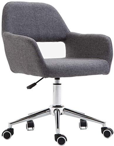 MHIBAX Silla para juegos Silla deoficina Silla para computadora con polea, altura ajustable, sillón giratorio para oficina en casa (color: gris)gris