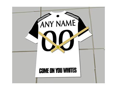 MyShirt123 FULHAM FC Football Club - Orologio da calcio per camicie da calcio, qualsiasi nome e numero