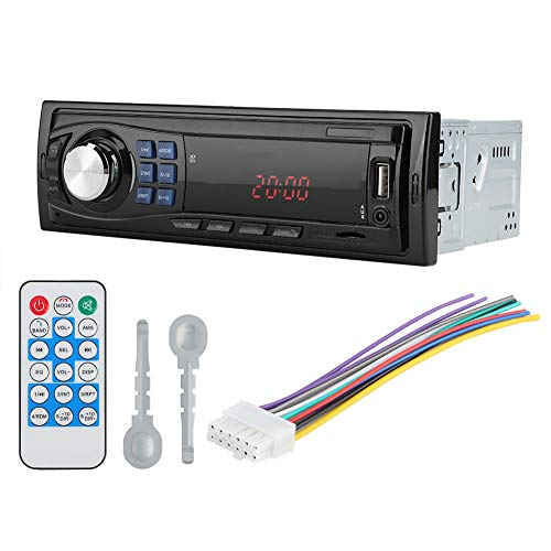 Autoradio con Bluetooth Universale in-Dash Singolo ricevitore 12V 12V Autoradio Lettore musicale stereo MP3 Unità radio AUX USB