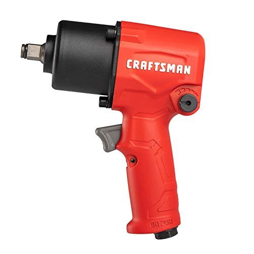 CRAFTSMAN CMXPTSG1004NB ½-in 400 ft-lbs Air Impact Wrench, Red and Black