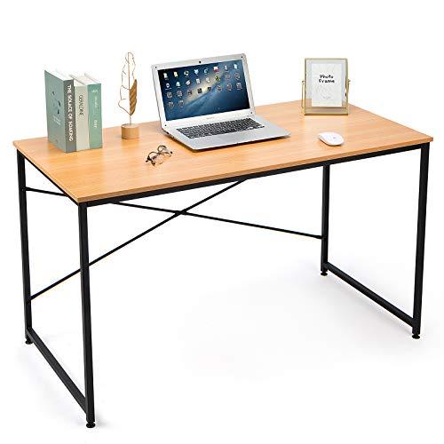 MUEBLES - Escritorio para computadora de 47 pulgadas, mesa de estudio de oficina, rústico, industrial, simple, con marco de metal resistente para oficina en casa, fácil de montar