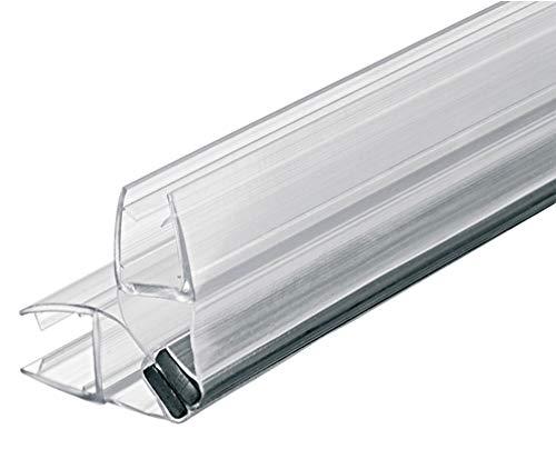 Gedotec magneetafdichting douchedeur doucheafdichting 90° voor douchewanden - douchecabines - schuifdeuren | PVC transparant | glasdeuren voor glasdikte 8-10 mm | 1 stuk - afdichting voor glazen deuren