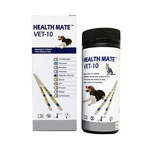 Easy Dog, Cat Pet Health Urine 10 Parameter Test Strips (Pack of 100)