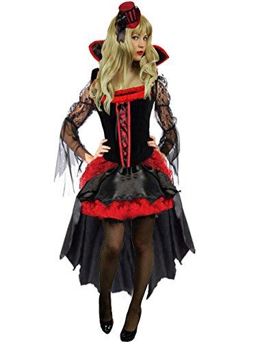 Yummy Bee - Maléfique Reine Vampiress Costume Gothique Horreur Déguisement Luxe Femme Grande Tailles Plus 34 - 46 (38/40)