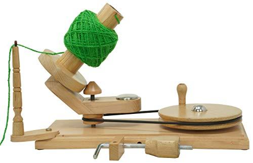 Bhartiya Handicrafts Wooden Yarn Ball Winder for Heavy Duty Large Knitting Wood Center Pull Natural Wool Winder String Holder Winder