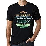 One in the City Hombre Camiseta Vintage T-Shirt Gráfico Venezuela Mountain Explorer Negro Profundo