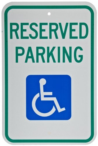 bienternary Métal Signes Boîte signalisation Vintage plaques Signs Plaque décoratifs Vert et Bleu sur Blanc fédéral Handicap de Parking Sign Legend Réservées au stationnement
