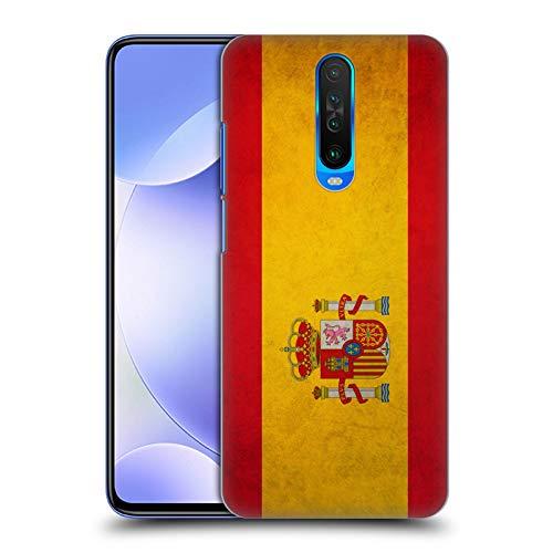 Head Case Designs Español De España Banderas Vintage Carcasa rígida Compatible con Xiaomi Redmi K30 / 5G