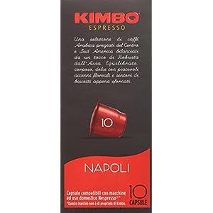 10 CAPSULE CAFFE' ESPRESSO NAPOLI Compatibili Sistema Nespresso Kimbo, 58g