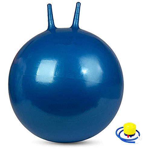 Uooeg Yoga-Bälle 65 cm Anti-Burst-Hüpfball für Erwachsene, Kinder, Schwangere Sport-Fitnessball mit Luftpumpe Blau