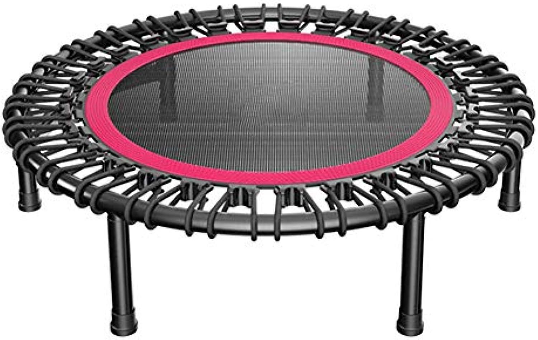 40 Zoll Trampolin Mini übung Fitnessgerte, Indoor Sicherheit Pad für Gartentraining Cardio Training Schwarz + rot