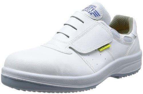 [ミドリ安全] 静電安全靴 グリーン購入法適合 耐滑底 マジックタイプ スニーカー HGS595 静電 メンズ ホワイト 27.5