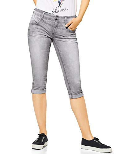STREET ONE Damen Jane Jeans, Light Grey Acid wash, W30/L22