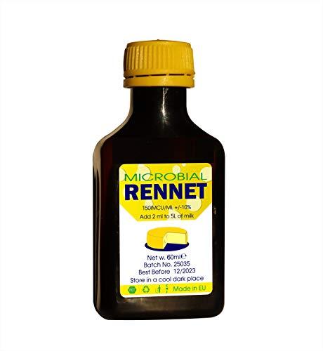 Microbial Liquid RENNET Coagulant 60ml | add 2ml per 5L of milk