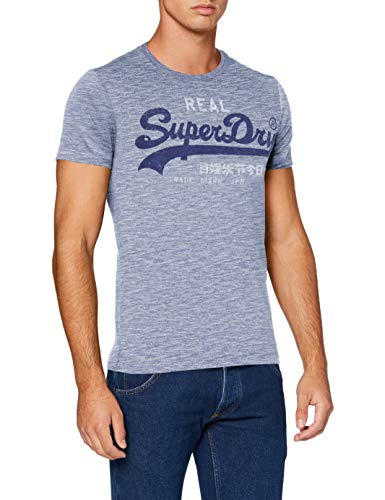 Superdry Herren VL Premium Goods Tee Freizeithemd, Blau (Mist Blue Space Dye 3DH), X-Large