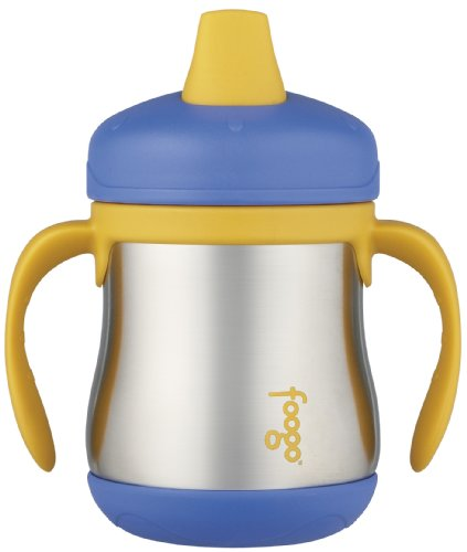 Foogo Leak-Proof Sippy Cup with Handle - 7 oz, Blue