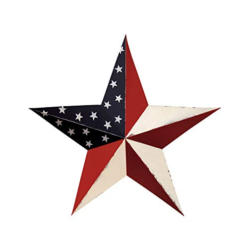 CWI Gifts Americana Barn Star Wall Decor, 24-Inch