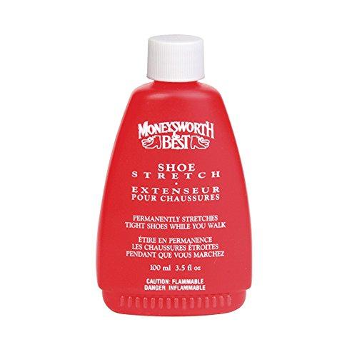 Moneysworth & Best Shoe Stretch Liquid Formula Works While You Walk  3.5 Oz  Clear