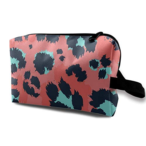 XCNGG Toiletry Bags Portable Travel Cosmetic Bag Exquisite Toiletry Bags Makeup Bags Cheetah-leopard-print-floral-(52)
